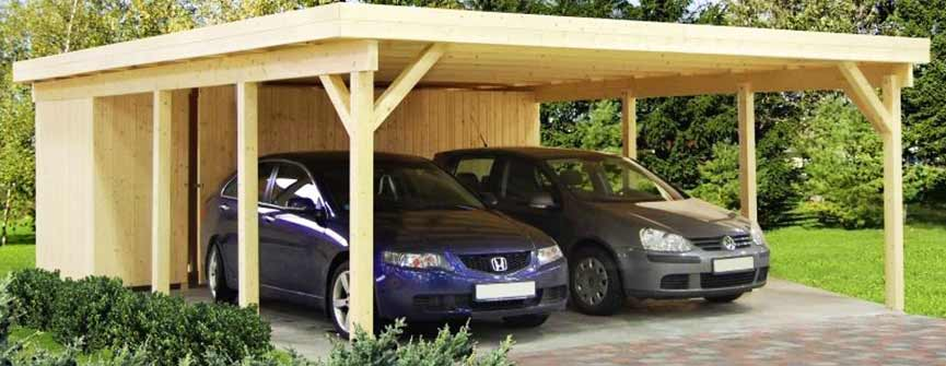 holz carport g nstig kaufen ihr. Black Bedroom Furniture Sets. Home Design Ideas