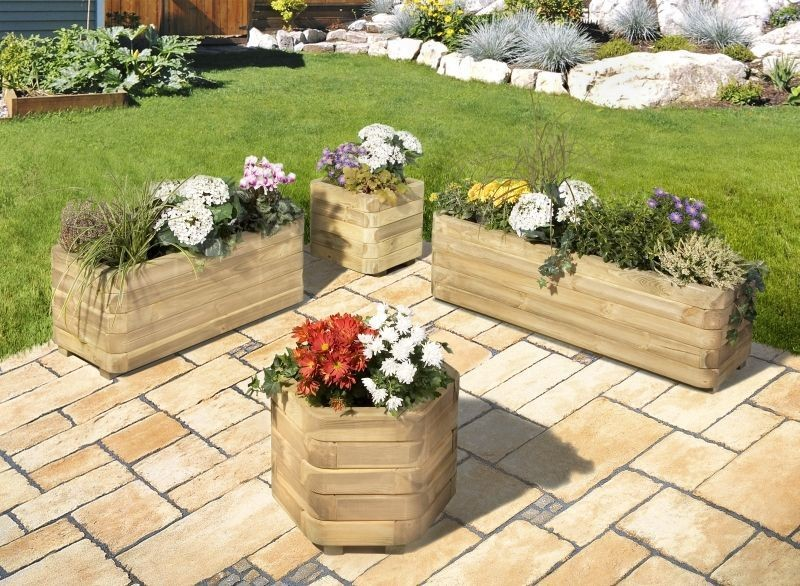 Pflanzkübel richtig bepflanzen | Ihr-Holzshop.de
