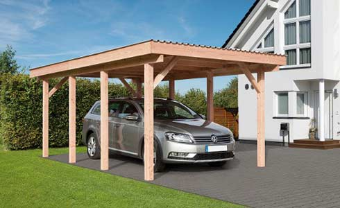 holz carport g nstig online kaufen ihr. Black Bedroom Furniture Sets. Home Design Ideas